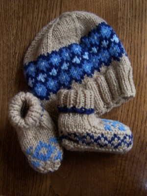 Cormack's Cap and Cozy Booties