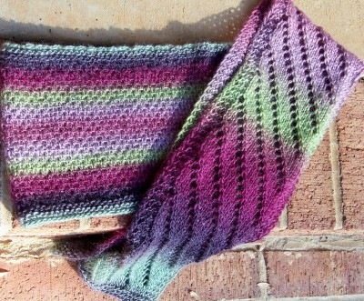Slightly Biased Scarf and On the Up and Up Cowl (two patterns in one)