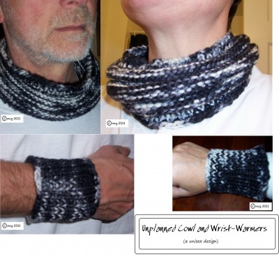 Unpplanned Cowl and Wristlets