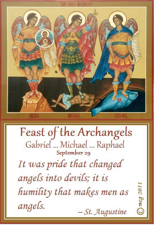 Image result for feast of the archangels picture