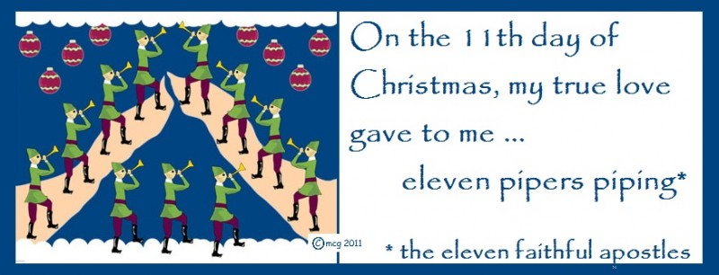twelve days of christmas on the 11th day of christmas