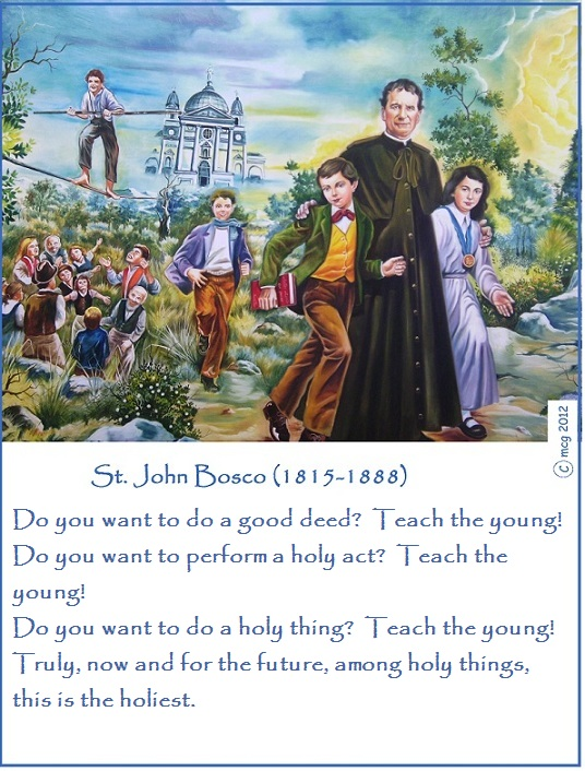 the life of a saint john bosco A short story about don bosco's life and his mission to love.