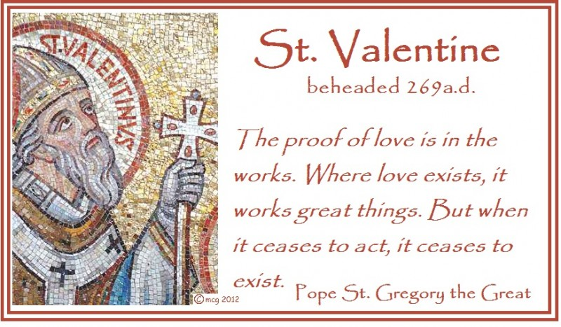 st - Saint Valentine Prayer