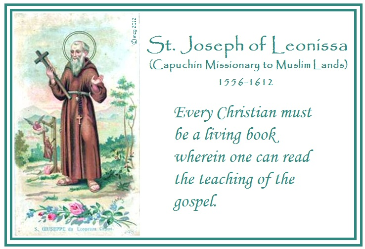 Feast day st joseph of leonissa by hand with heart feast day st joseph of leonissa m4hsunfo
