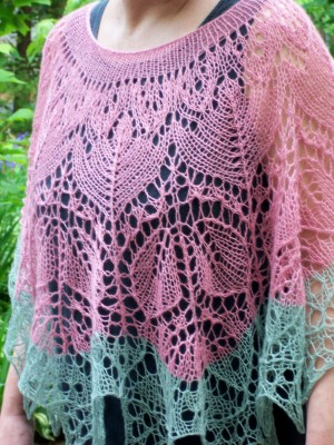 My Wild Irish Rose lace poncho