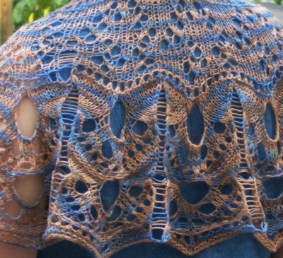 Sunset Over the Mesa shawl -- 375 yards of fingering-weight lace beauty