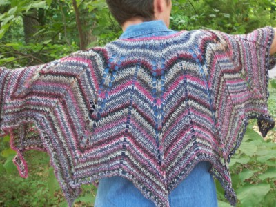 The Wishing Star (a 9-pointed star poncho)