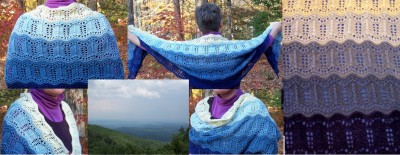 Blue Ridge Shawl is done!