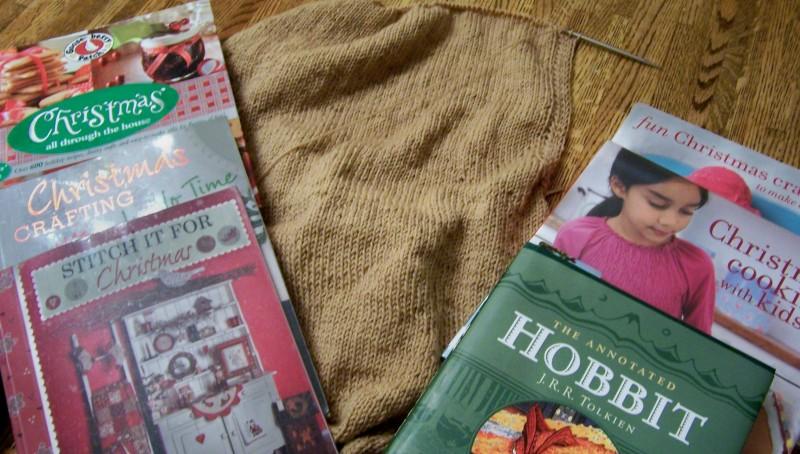 Yarn-along:  December 12, 2012