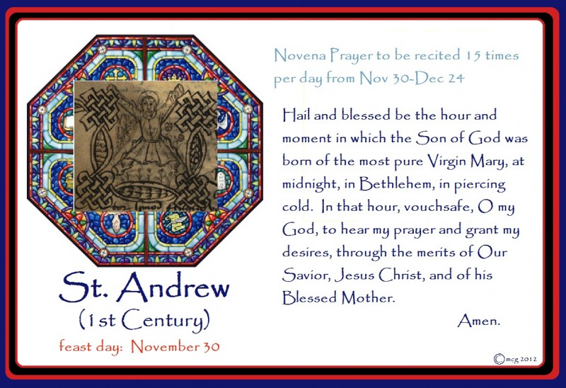 St. Andrew and His Novena