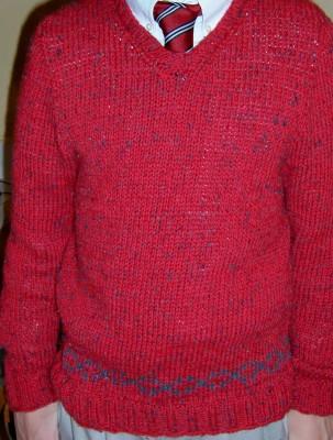 St. Andrew's Sweater on 14yo HamBone