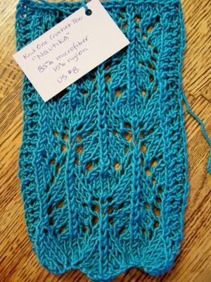 Knit One, Crochet Too's Nautika, 85% microfiber and 15% acrylic