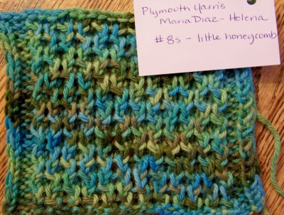 """Plymouth Yarns' Maria Diaz in """"Helena"""", a 100% is a lovely colorway"""