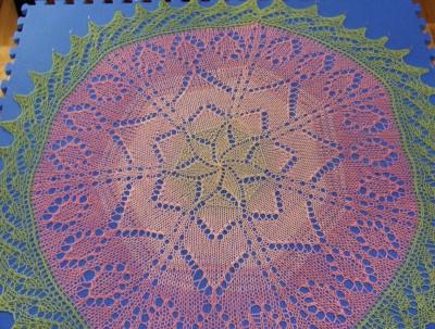 Bird's Eye view of Miss Ellie's Garden (48-inch heptagon/circle)