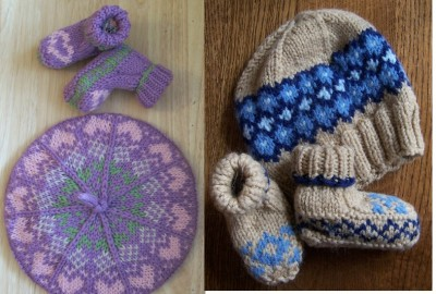 Kirsty's Cap and Cuddly Botties AND Cormack's Cap and Cozy Booties