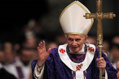 Pope Benedict on Ash Wednesday, February 13, 2013