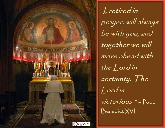 Pope Benedict's promise of prayers ...