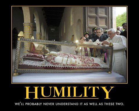Papal humility