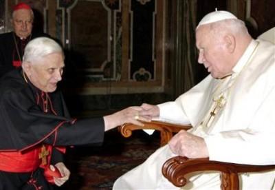 Cardinal Ratzinger and Bl Pope John Paul II