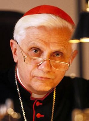 Then Cardinal Ratzinger, Prefect (head) of the Congregation for the Doctrine of the Faith