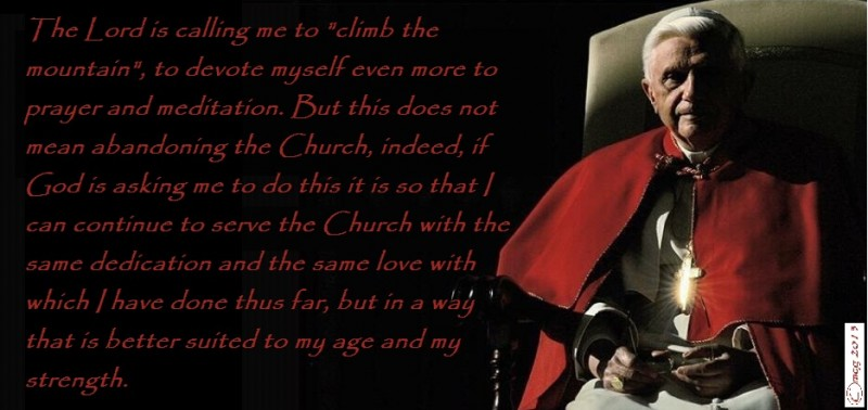 Pope Benedict's promise of prayers ...