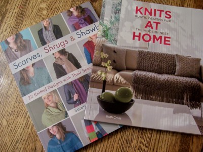 Knits at Home and Scarves, Shrugs and Shawls