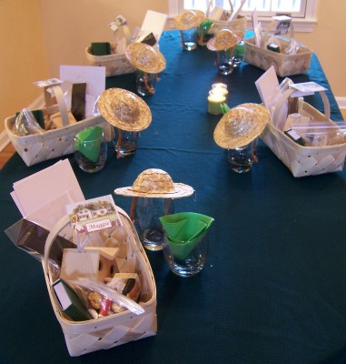 crafty goodie baskets (and there's some chocolate in there, too!)