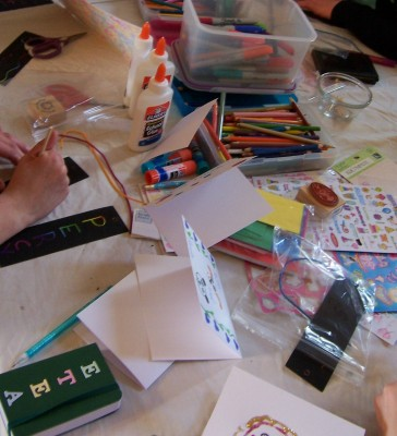 small journals and rainbow/scratch bookmarks to record all their teen dreams
