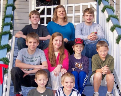 Children, grandchildren and a nephew -- Christmas 2012