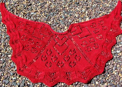 Knittin' Love ... a shawl to show just how much love you have in your heart!