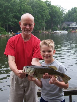 at least 24-inch large mouthed bass