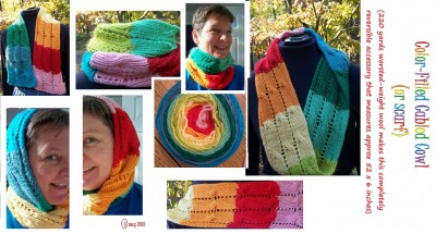Color-filled Cowl (or scarf)