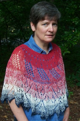 Dawn's Early Light - poncho or shawl