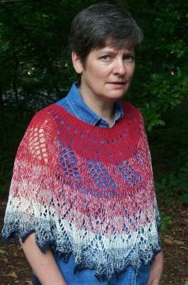 Dawn's Early Light - poncho or shawl
