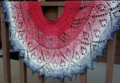 Dawn's Early Light poncho or shawl