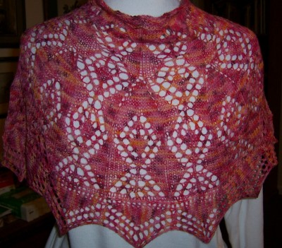 Red Sky at Night (JUST published in Storey's 101 Lace One Skein Wonders)