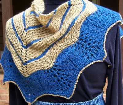 The Ebbing Tide shawlette