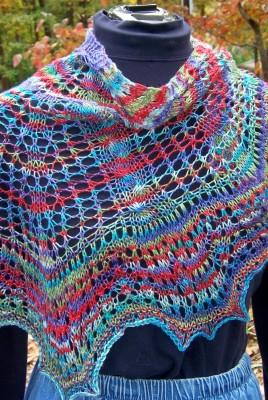 Lacy Maple Leaf shawl
