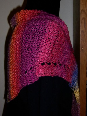 Summer Sunset shawl