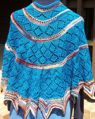 Spirit of the Southwest shawl ... just as pretty from the back