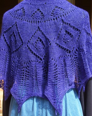 Helen's Choice ... a perfectly purple poncho!