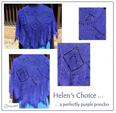 Helen's Choice ... a perfectly purple poncho