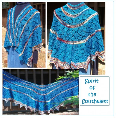 Spirit of the Southwest shawl