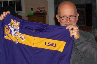 An LSU jacket from the boys