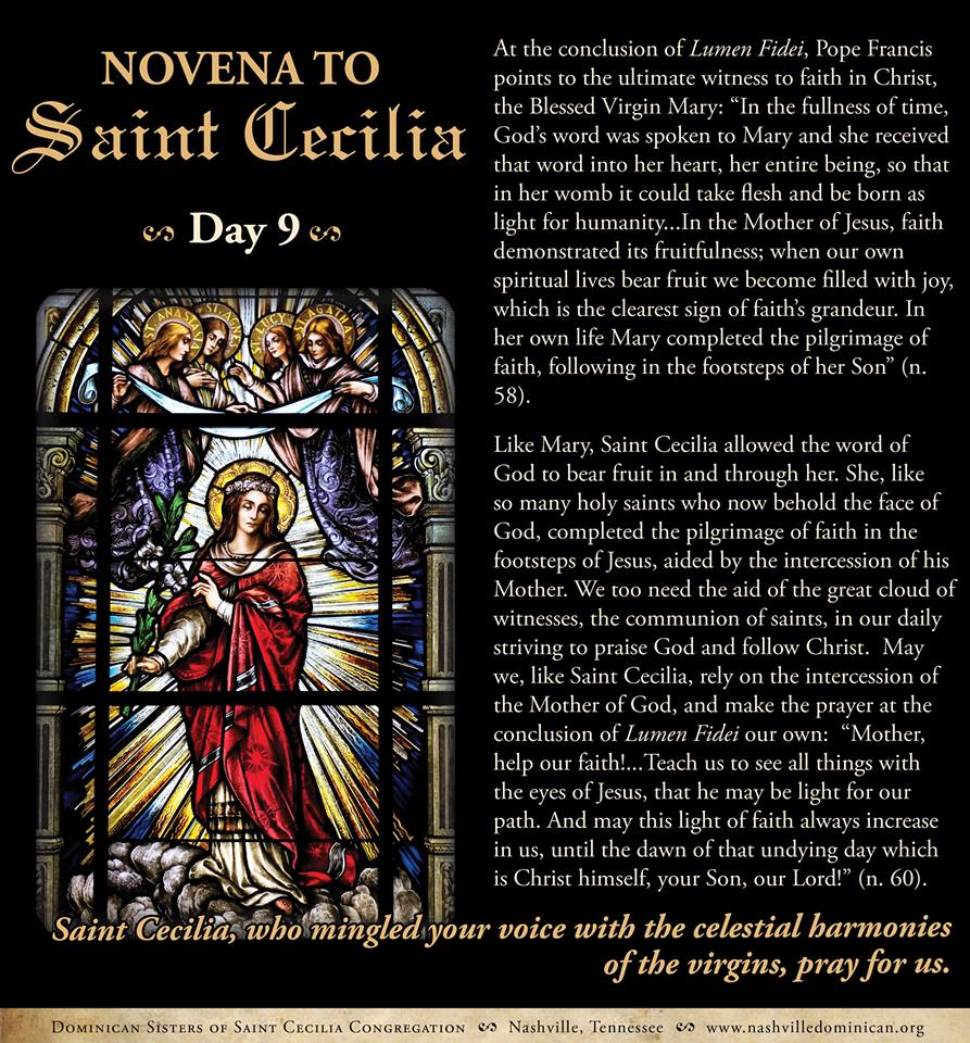 Day 9 - Final Day of Novena to St.Cecilia