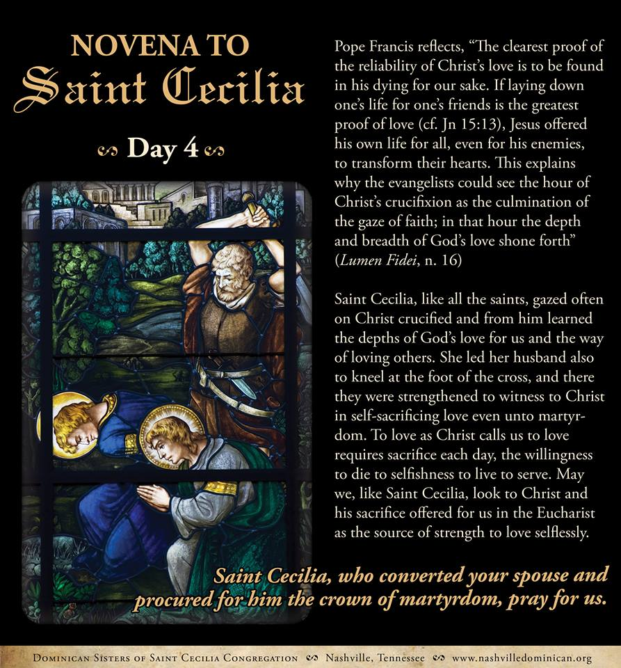 Day 4:  Novena to St. Cecilia