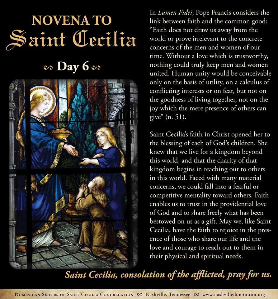 Day 6: Novena to St. Cecilia