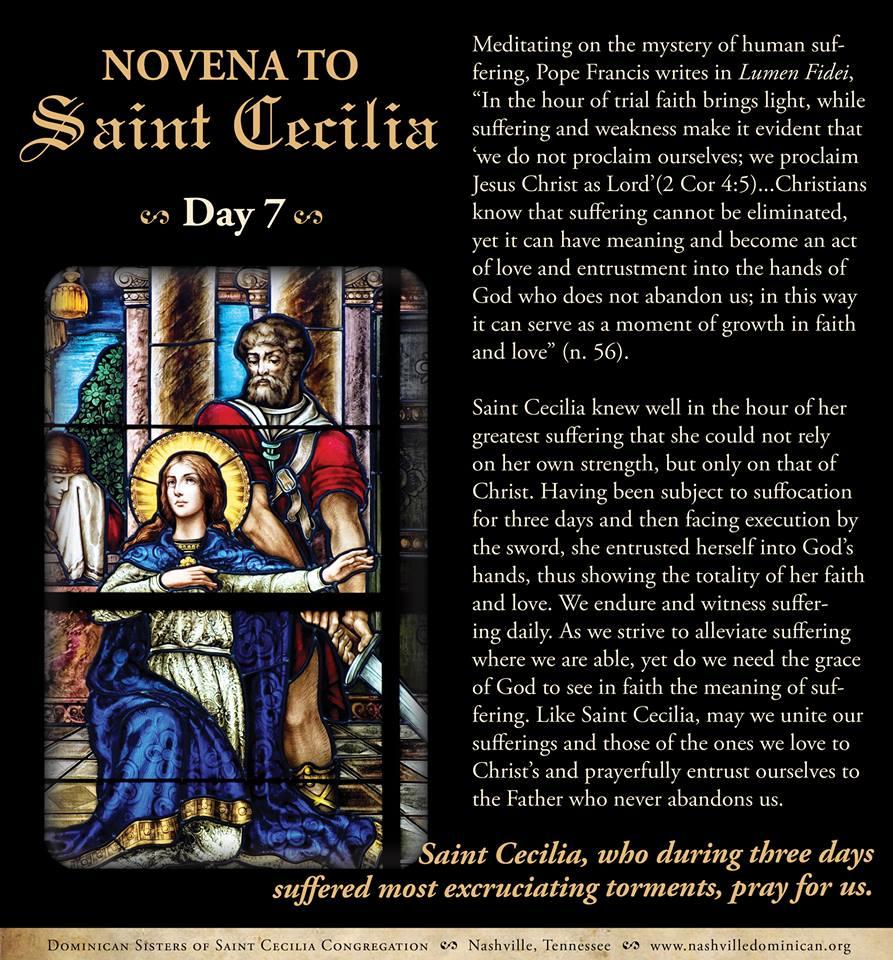 Day 7:  Novena to St. Cecilia