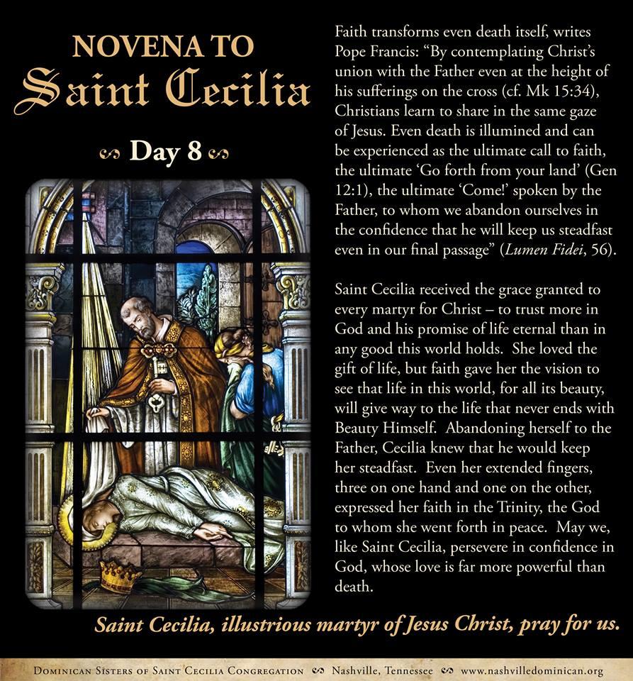 Day 8 - Novena to St. Cecilia