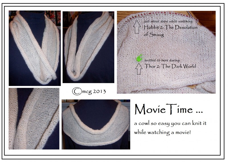 Movie Time ... a cowl so simple you can knit it while watching a movie